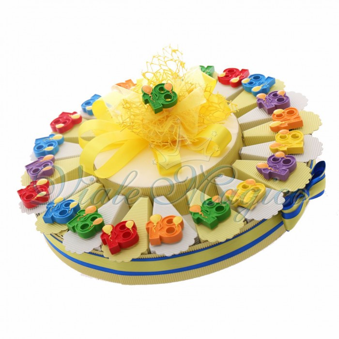 Torta Bomboniere Compleanno 18 Anni Magnete n°18 Palloncini Balloons