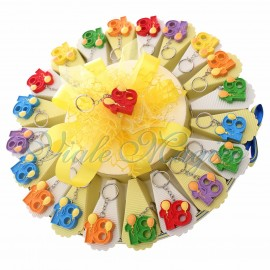 Torta Bomboniere Compleanno Diciottesimo Ragazzo Ragazza Portachiavi n°18 Balloons