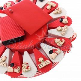 Torta Bomboniere Magnete Mix Laureato