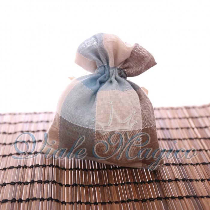 Sacchetti Faidate per Confettata 10 PZ Sacchetti Quadrettati per Bomboniera Compleanno