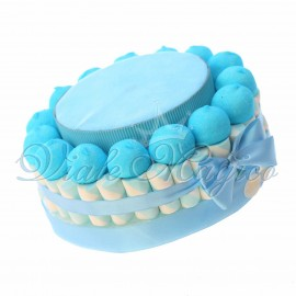 Torta Marshmallow Caramelle Confettata Nascita Battesimo Bimbo