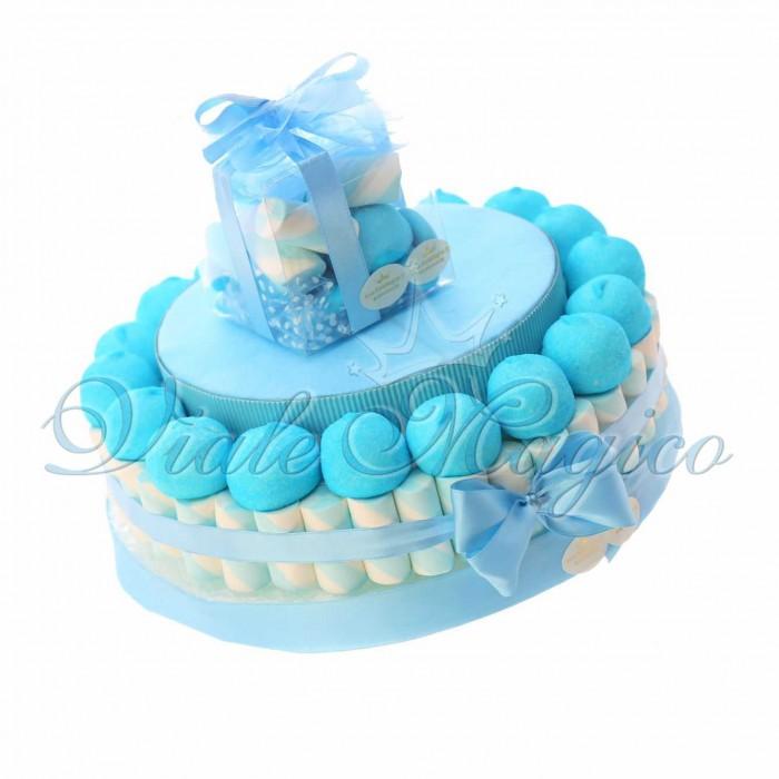 Torta Marshmallow Caramelle per Nascita Battesimo Primo Compleanno Bimbo