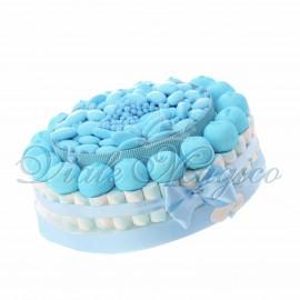 Torta di Confetti Caramelle Marshmallow per Nascita Bimbo