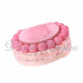 Torta di Caramelle Marshmallow Nascita Primo Compleanno Bimba