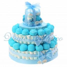 Torta Marshmallow Caramelle per Bimbo 2 piani