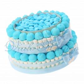 Vendita Torta Marshmallow Caramelle e Confettata per Nascita Bimbo 2 piani