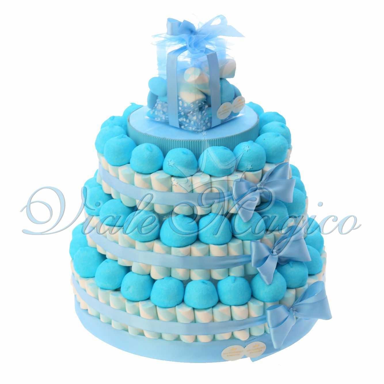 Favorito Torte Caramelle Marshmallow Battesimo Comunione Bimbo Confettata UR27