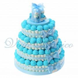 Torta Marshmallow Caramelle per Bimbo 4 piani