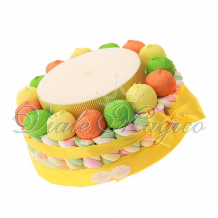 Torta Compleanno Caramelle Marshmallow per Ragazzo Ragazza