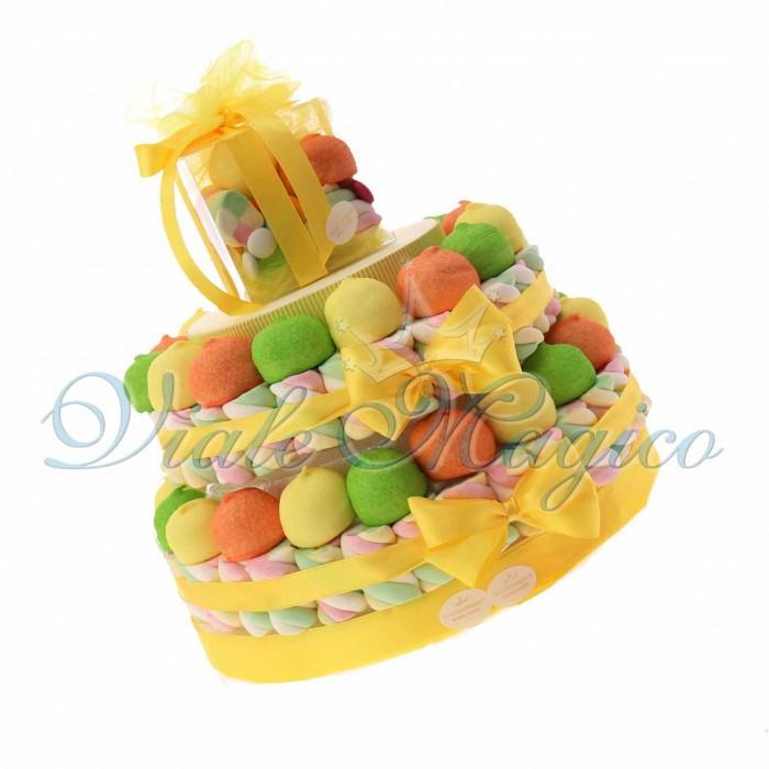 Torte Caramelle Marshmallow per Compleanno 2 piani Ragazzo Ragazza Offerte