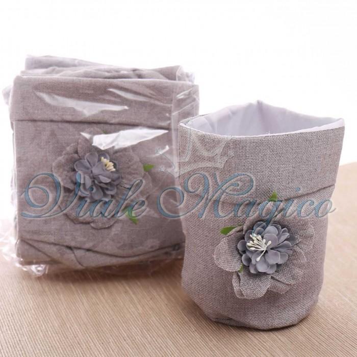 Sacchettone Confettata Matrimonio Faidate 10 PZ Tortora e Beige