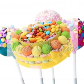 Torta Caramelle per Compleanno Marshmallow e Confettata 18 Anni