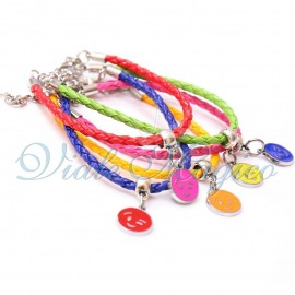 Braccialetti con Ciondoli Smile Mix Color