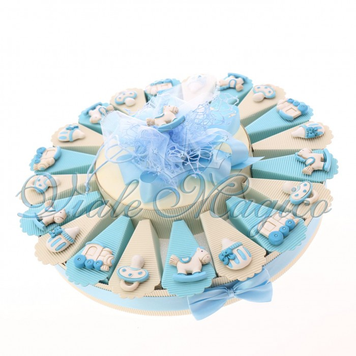 Torta Bomboniere Nascita Battesimo Confettata Magnete Mix Pupo