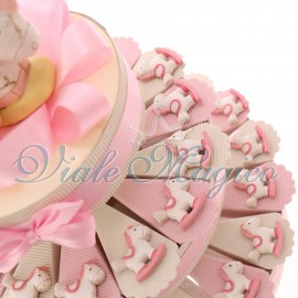 Torta Bomboniere Bimba Nascita Battesimo con Magnete Pony Pupa