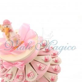Torta Bomboniere con Magnete Biberon Pupa
