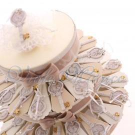 Torta Bomboniere Cresima con Appendino Chiave Confettata Offerte