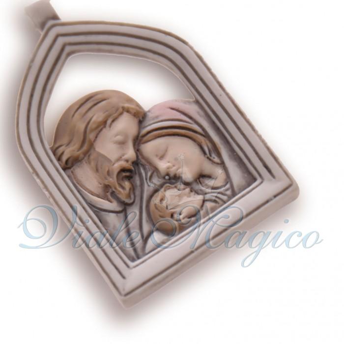 Bomboniera per Battesimo Comunione Appendino Cornice Sacra Famiglia Offerte