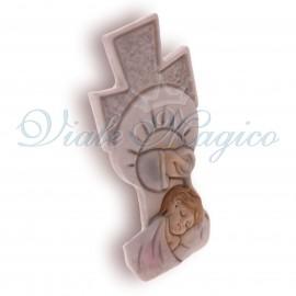 Bomboniera Statuina Croce Battesimo Bimba