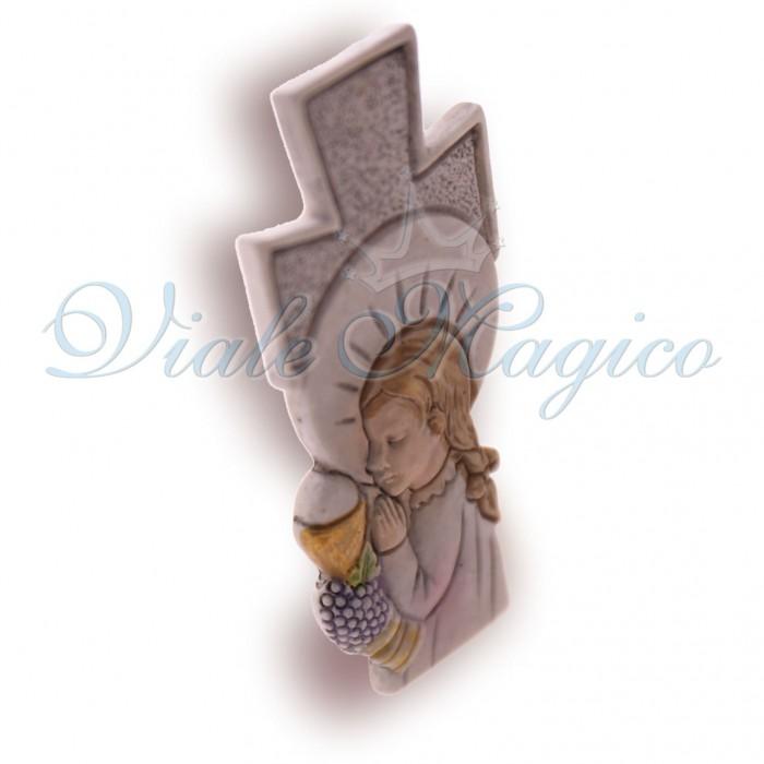 Bomboniera Online Comunione Bimba Faidate Statuina Croce Comunione in Offerte