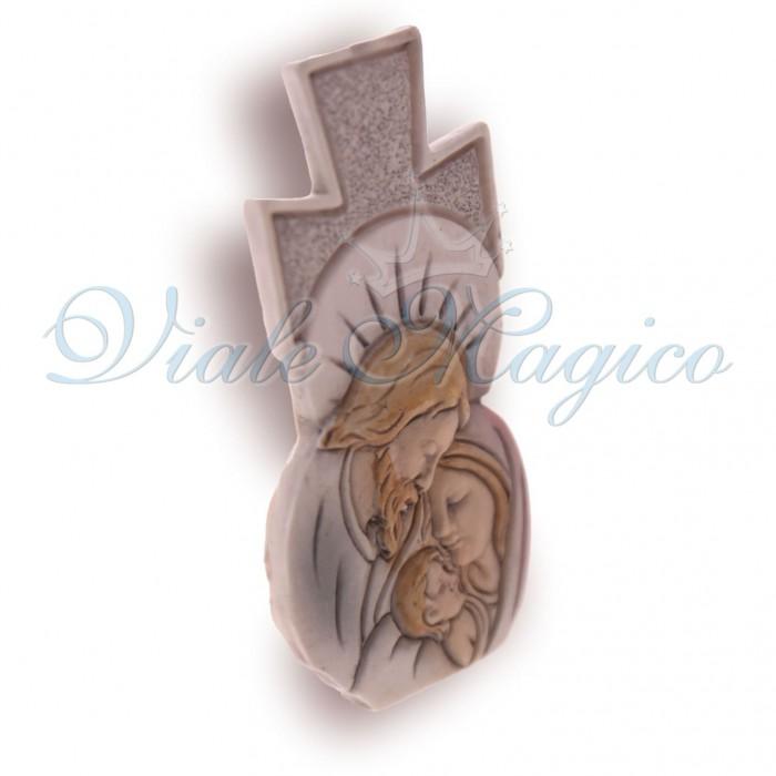 Bomboniera Comunione Cresima Statuina Sacra Famiglia per Battesimo