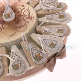 Torte Bomboniere con Appendino Goccia Calice Comunione