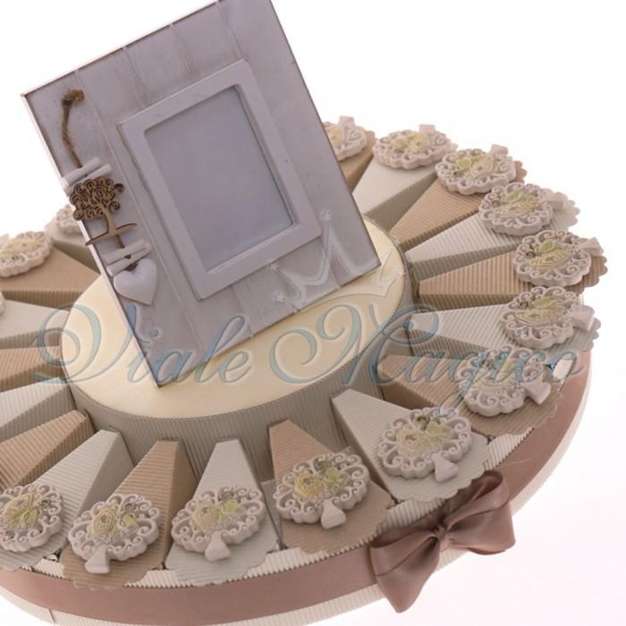 Alzatina Bomboniere Cresima con Magnete Albero della Vita Sacro Offerte
