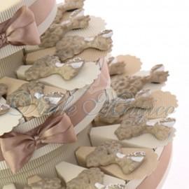 Bomboniere Matrimonio Promessa Torta Magnete Sposi Albero della Vita Glitter