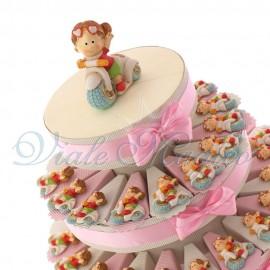 Torta Bomboniere con Magnete Bimba in Vespa