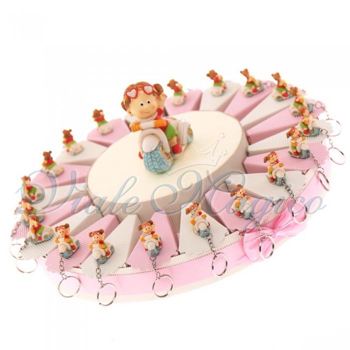 Offerte Compleanno Torte Bomboniera con Portachiavi Bimba in Vespa