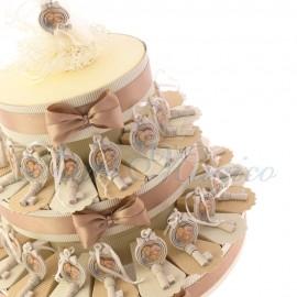 Torte Bomboniere con Appendino Chiave Piegata Sacra Famiglia