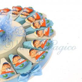 Torta Bomboniere con Magnete Baby Marinaio