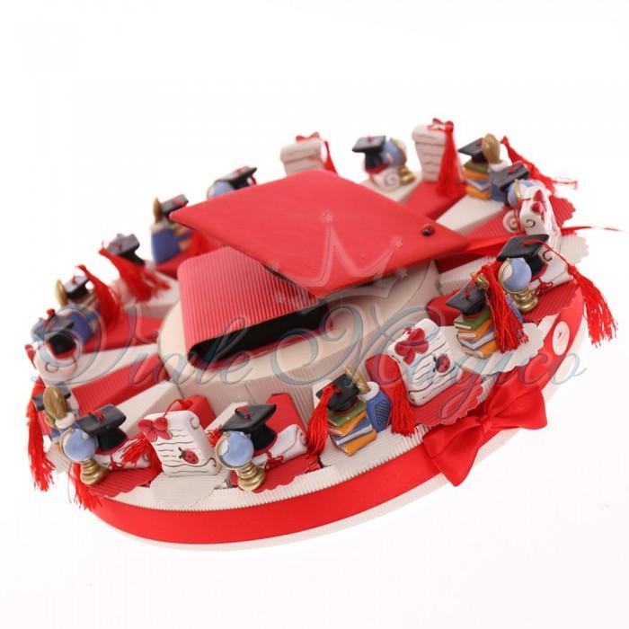 Torta Bomboniera per Laurea Mix Magnete Oggettini Laureato Offerte Stock