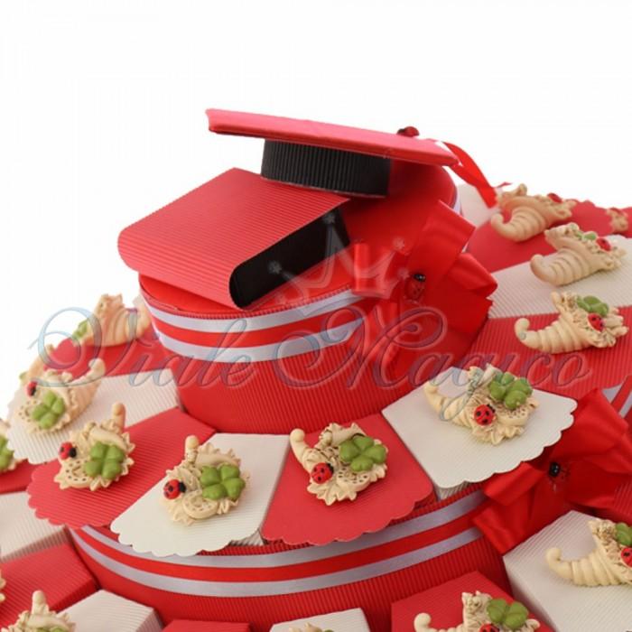 Maxi Torta Bomboniere Simpatica Coccinella su Pergamena
