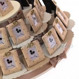 Maxi Torta con Portafoto Fedi Oro per Sposi