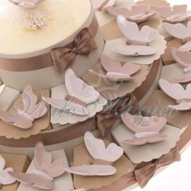Maxi Torta con Magnete Farfalla Elegante in Porcellana