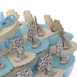 Maxi Torta con Albero della Vita Orsetto Cappellino Bimbo