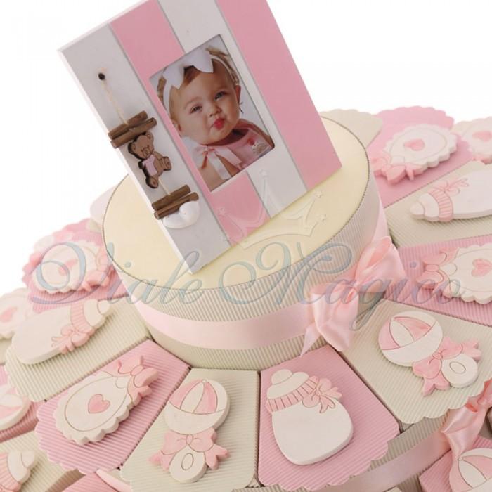 Bomboniera Nascita Bimba Alzatina con Magnete Collezione Fanciulla Confettata