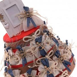 Torta Bomboniere Compleanno Sacchetti Tema Mare Ancora e Timone Offerte