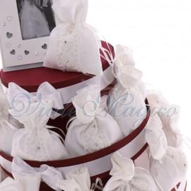 Torte Bomboniere Sacchetti Flowers White