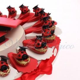 Vendita Torte Bomboniere Coccinella Laureata su Cappello Goliardico Confettata