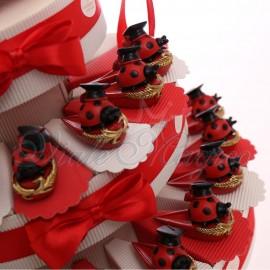 Torte Bomboniere Coccinella Laureata su Cappello Goliardico