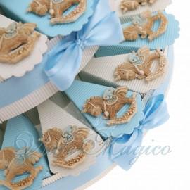 Torte Bomboniere Nascita Bimbo con Magnete Unicorno Peluche Offerta