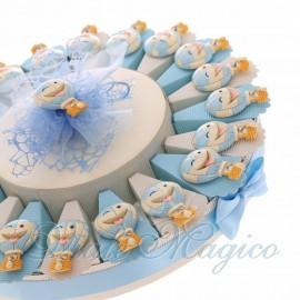 Torta Bomboniere Primo Compleanno Bimbo con Magnete Mongolfiera Smile