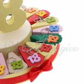Torta Bomboniere Portachiavi Colorati 18 Anni