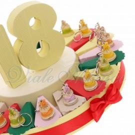 Torta Bomboniere Portachiavi Tortine 18 Anni New