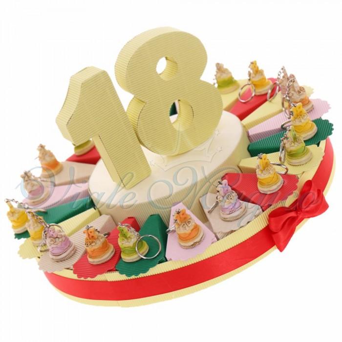 Torta Bomboniere Compleanno Portachiavi Tortine 18 Anni Offerte