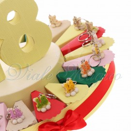 Torta Bomboniere Portachiavi 18 su Fiore New
