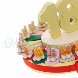 Torte Bomboniere Online Economiche Compleanno Ragazza Statuina 18 su Fiore in Offerta