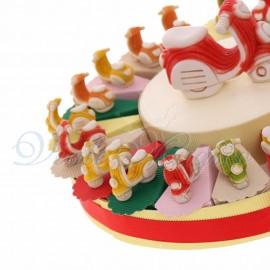 Torte Bomboniere Compleanno Statuina Vespa Ragazzo Ragazza Love